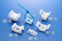 100pcs 23x16x10mm 23 16 10 HC 2S White 5mm Screw Hole Nylon Plastic Saddle Type Fixed