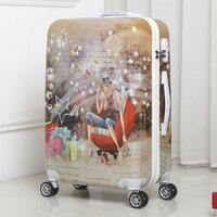 BeaSumore студенческий багаж на колёсиках 20 дюймов Спиннер чемодан колеса корейские женщины пароль Путешествия Duffle кабина школьная сумка на ко...
