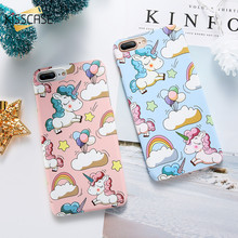 KISSCASE Cute Unicorn Cartoon Cases For iPhone 5 5s se Hard PC Lovely Mobile Phone Case For iPhone 6 6s 8 7 X Back Cover Coque