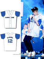WANNA ONE Baseball Uniform Kpop Summer T shirts Fashion Hip Hop Patchwork Harajuku Men Women Korean Outwear Loose Jersey Top