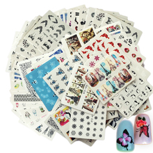 50Sheets Mixed Designs Water Transfer Nail Art Sticker Watermark Decals DIY Decor For Beauty Nail Tools Random Patterns LASTZ50