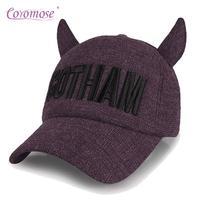 Coromose Girl Winter Autumn Peaked Cap Baseball Woman Hat Horn Design Sunbonnet Outdoor Topee Casual Fashion Imp Warm Gift TF