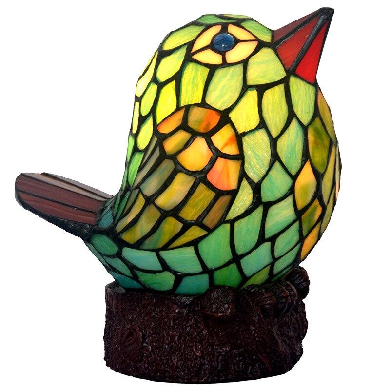 Креативный подарок цветное Стекло силиконовые животных и зелеными птицами детские, для малышей светодиодный стол Ночной светильник лампа ...