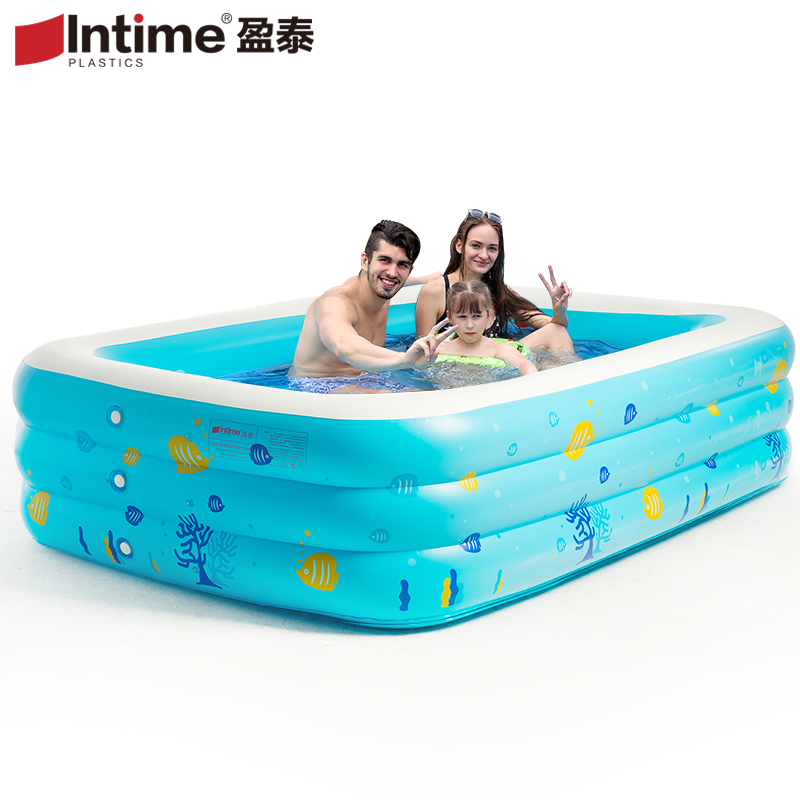 Many size intime child swimming pool adult baby swimming for Best rated inflatable swimming pool