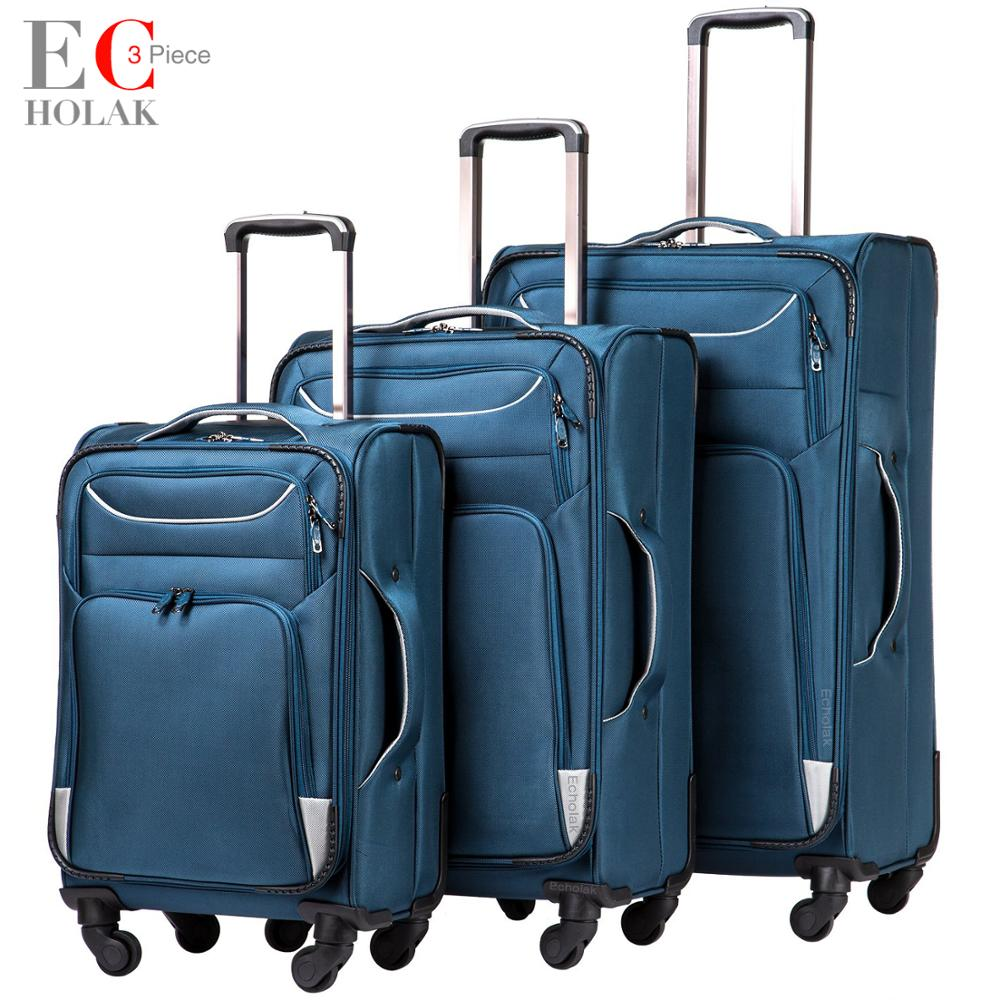 3 Piece Set Suitcase Spinner Softshell lightweight Lightweight Carry on Spinner Wheel Travel Vacation Luggage 20