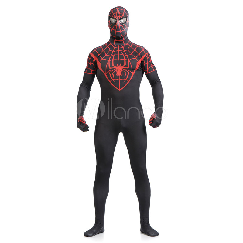 High Quality Adult/Children's Halloween Black/Red Spiderman Cosplay Costumes Men's Lycra Zentai SuperHero Costume Full Body Suit