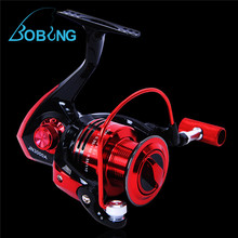 Bobing New 12+1BB Ball Bearing Gear Ratio 5.2:1 Left/Right Fishing Spinning Reel Black And Red Freshwater Saltwater Fishing Reel