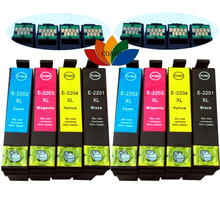 8 Pack T220XL T2201-T2204 Non-OEM Ink cartridge For Epson XP320 420 424 WF- 2630 2650 2660 Printer