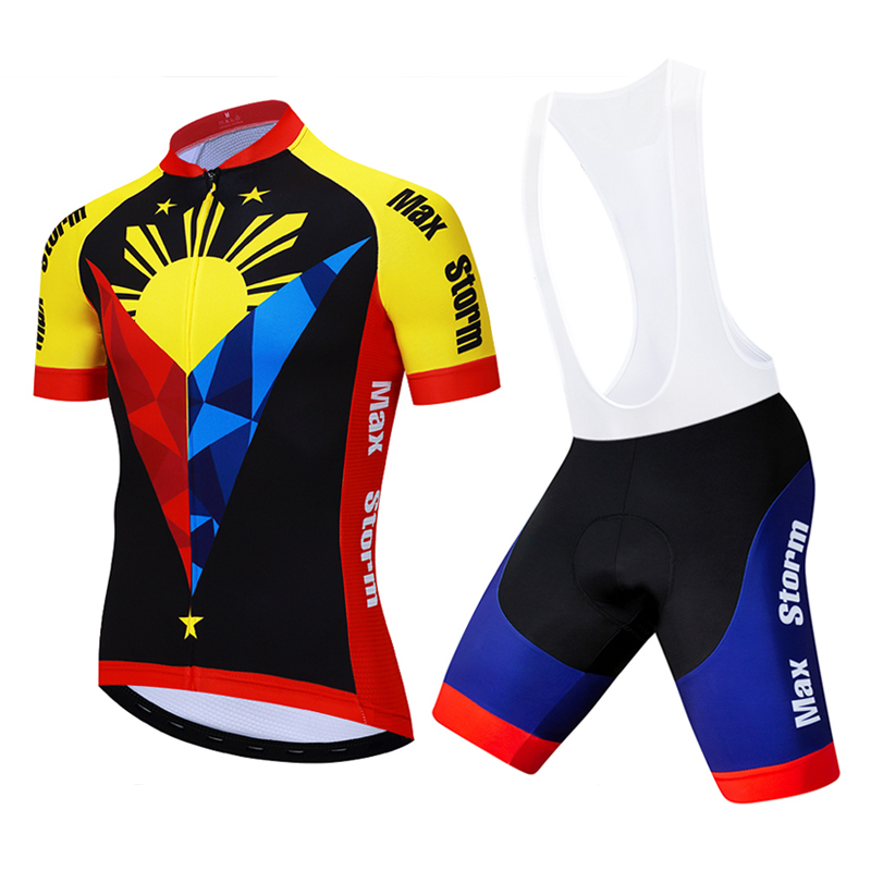max storm 2019 Team Philippines Cycling Jersey Customized Road Mountain Race Top