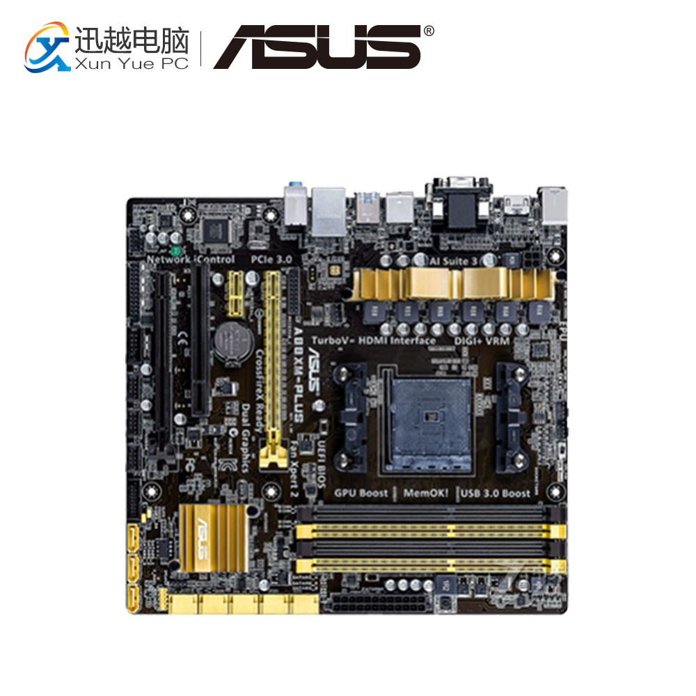 Asus A88XM-PLUS Desktop Motherboard A88X Socket FM2 DDR3 32G SATA3 USB3.0 Micro ATX стоимость