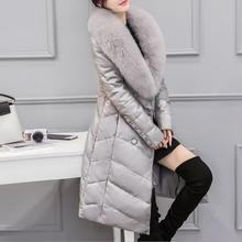 2017 New Arrival Coats Winter Jacket 100% Leather High Quality And Fashion Sexy Women Thick Coats Thermal Super Warm With Hats