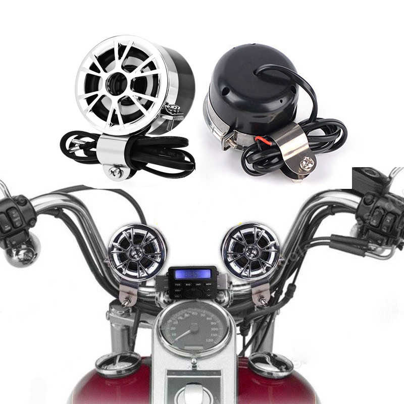 Marca Original AOVEISE Universal motocicleta bicicleta sonido Audio Radio teléfono FM MP3 de Audio para motocicleta altavoces estéreo