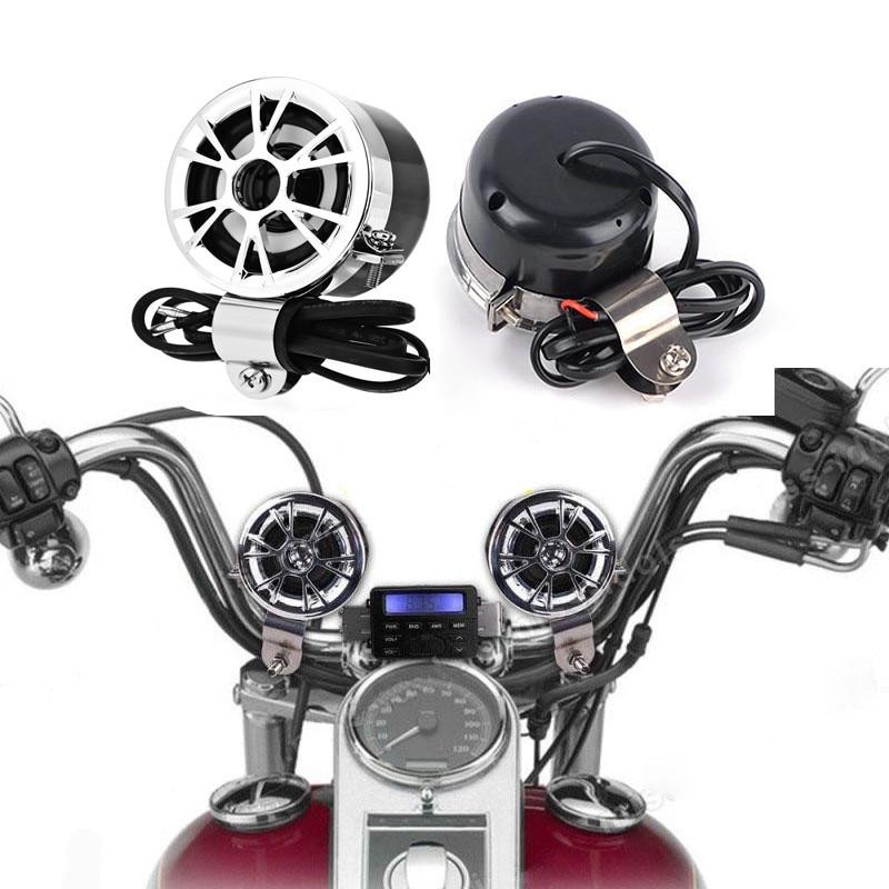 Original Brand AOVEISE Universal Motorcycle Bike Sound Audio Radio Handlebar Phone FM MP3 Motorcycle Audio Speakers Stereo