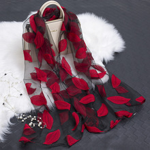 LARRIVED 2019 New Design Womens Summer Breeze Lightweight Sheer Wrap Organza Gauze Scarf For 180*70cm Luxury Women