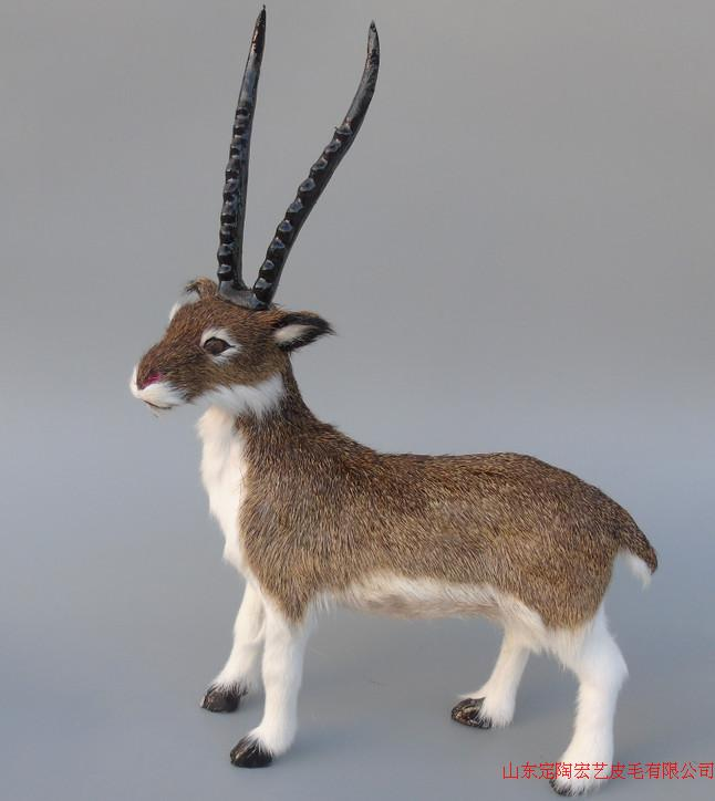 new simulation antelope toy polyethylene & furs antelope model gift about 30x45cm 236