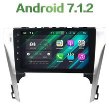 "Android 7.1.2 Quad Core 2 Din 10.1"" 2GB RAM Car Radio 4G WIFI Bluetooth GPS Navigation Touch Screen for Toyota Camry 2012 2013"