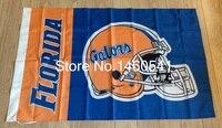 Florida Gators Wordmark Helmet Flag 3ft X 5ft Polyester NCAA Pirates Banner Flying Size No 4