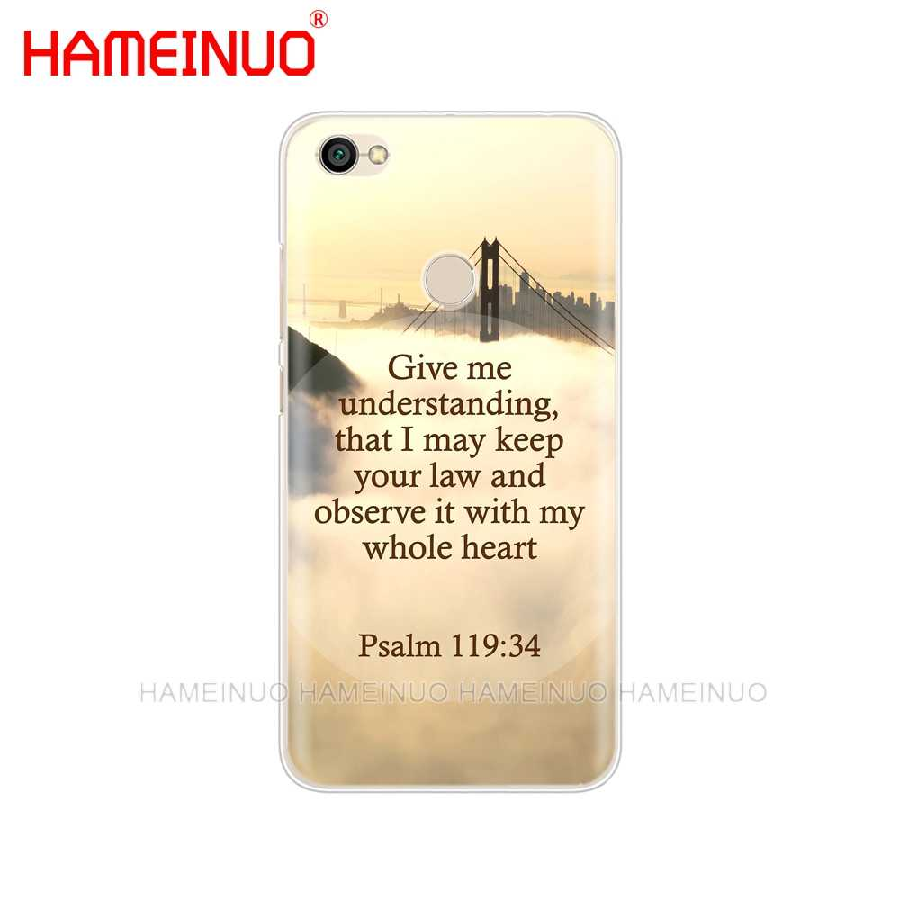 HAMEINUO перстень из нержавеющей стали Библия чехол со стихом чехол для телефона для Xiaomi redmi 5 4 1 1s 2 3 3s pro PLUS redmi note 4 4X 4A 5A