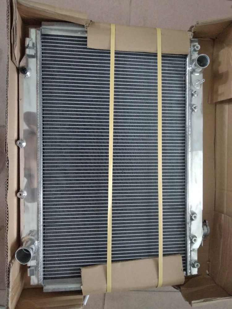 Detail Feedback Questions about 56MM 3ROW Aluminum Radiator
