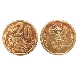 Южная Африка 20 центов случайный год UNC оригинальная монета, мировая Африка коллекция коллекционные монеты подарок