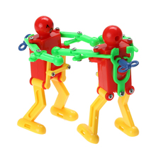 2 Pcs Dancing Robot Toy Plastic Clockwork Spring Yellow Green Red Wind Up Dancing Robot For