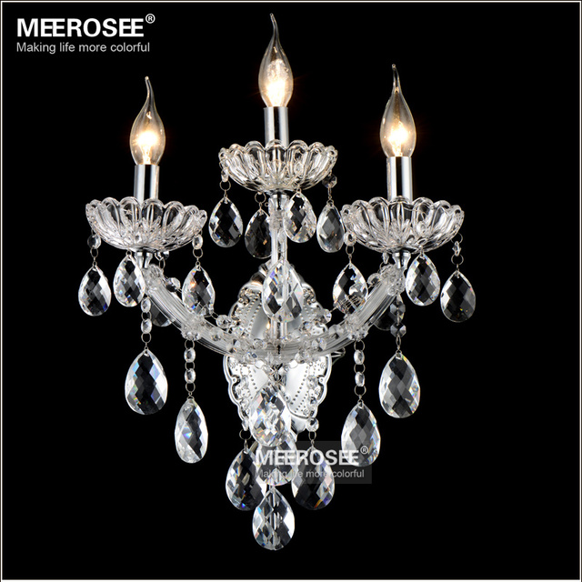 Maria Theresa Crystal Wall Sconces Light Fixture Small Lamp For Bedroom Living Room