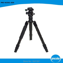 W255C+B30 carbon fibe professional Photo Tripod With Ball head Portable Travel DSLR Camera detachable Max Load to 8Kg