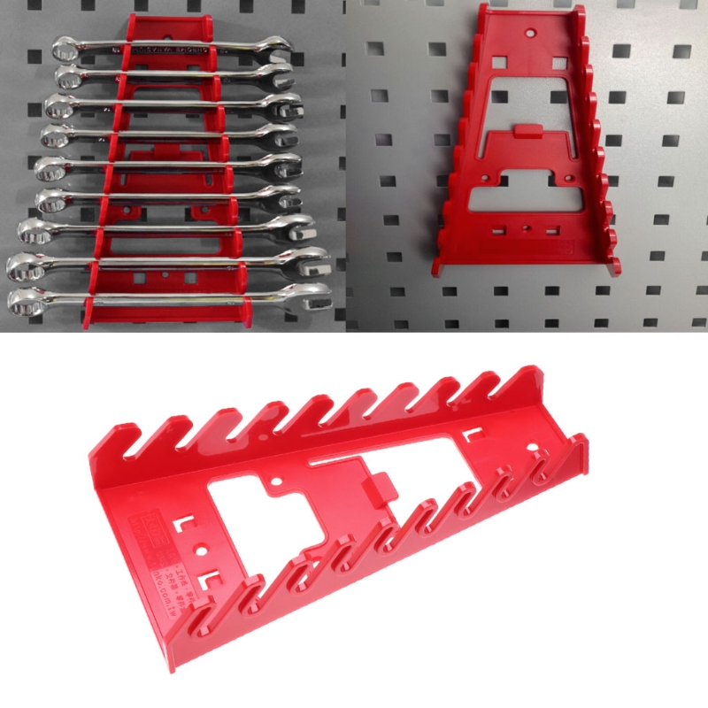 Plastic Spanner Rack Wrench Holder Storage Rack Rail Tray Wrench Organizer Tools Dls HOmeful