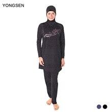 YONGSEN Plus Size Modest Muslim Swimwear Hajib Islamic Swimsuit For Women Full Cover Conservative Swim Wear Burkinis