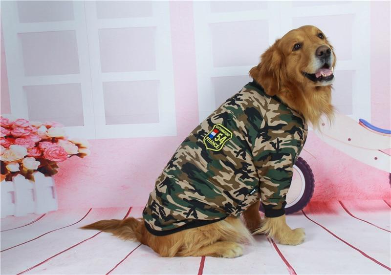 Camouflage dog jacket big dog clothes (8)
