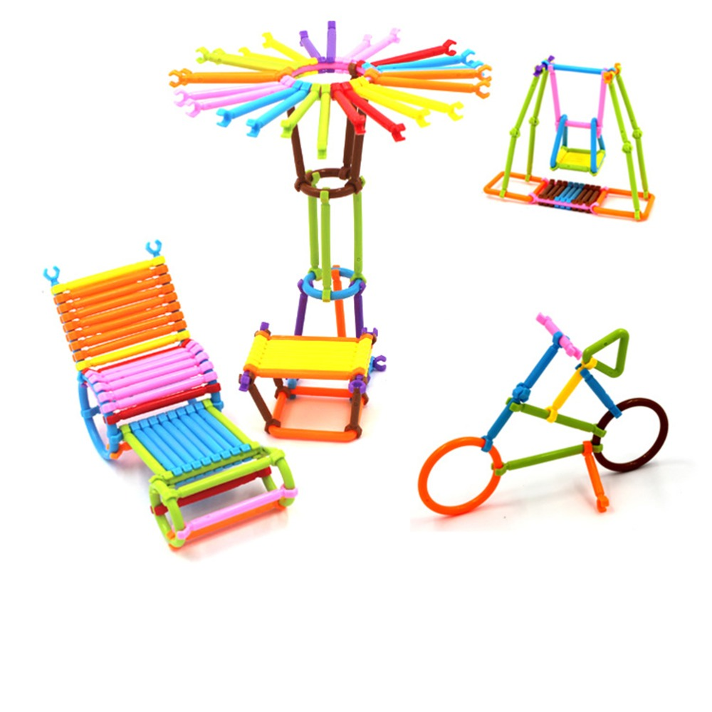 2017 Kindergarten Assembling Intellectural Smart Stick Plastic Building Blocks for Children Assembled Educational Toys