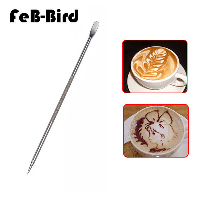 Pack of 2 Stainless Steel Latte Art Decorating Pen Coffee Barista Tools