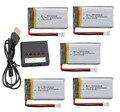 SYMA X5SW X5SC X5S X5SC-1 M18 H5P RC quadcopter atualização Li-bateria de polímero de 3.7 v 1200 mah * 5 pcs + carregador caso frete grátis