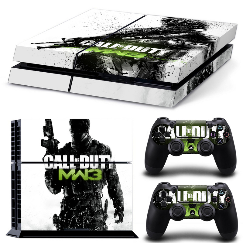 Call Of Duty Design Skin Sticker For Playstation 4 PS4 Console + 2 PCS Stickers For PS4 Controle Decal