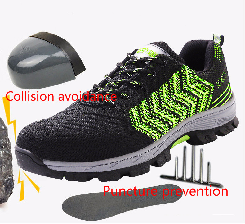 Anti skid safety work shoes for men with low help and rubber shoes in Work Safety Boots from Shoes