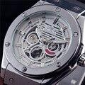 GANADOR Relojes Hombres Lujo de la Marca Deportes Casual Reloj Militar Relojes de pulsera de Viento Esqueleto Reloj Mecánico Automático Correa De Caucho