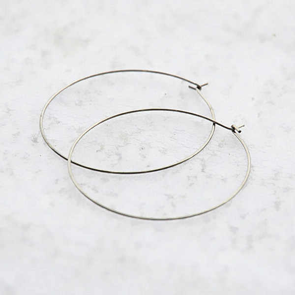 Stainless Steel Earrings Bases 20mm 25mm 35mm Circle Wire Big Hook Earwires Findings Earring Wires or Wine Glass Charm Hoops