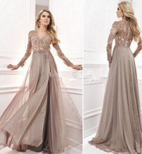 Vintage 2016 Abendkleid Mit Langen Ärmeln Arabischen Muslimischen Formale Kleider Für Hochzeit Promi Guest Kleid Frauen