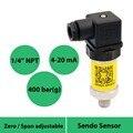 Датчик давления от 4 до 20 мА  герметичный манометр 400 бар  давление от 0 до 40 МПа  12 В 24 в 36 В мощность  1 4 npt мужское соединение  аналоговый выход