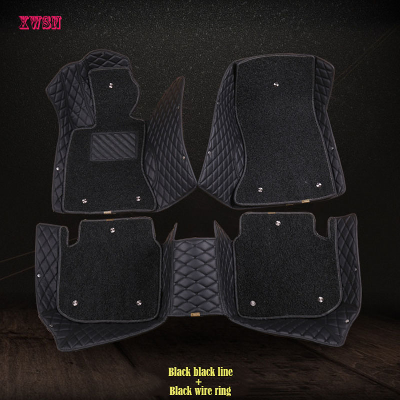 XWSN custom car floor mats for mercedes w212 w245 w169 w163 w246 w140 vito cla gla