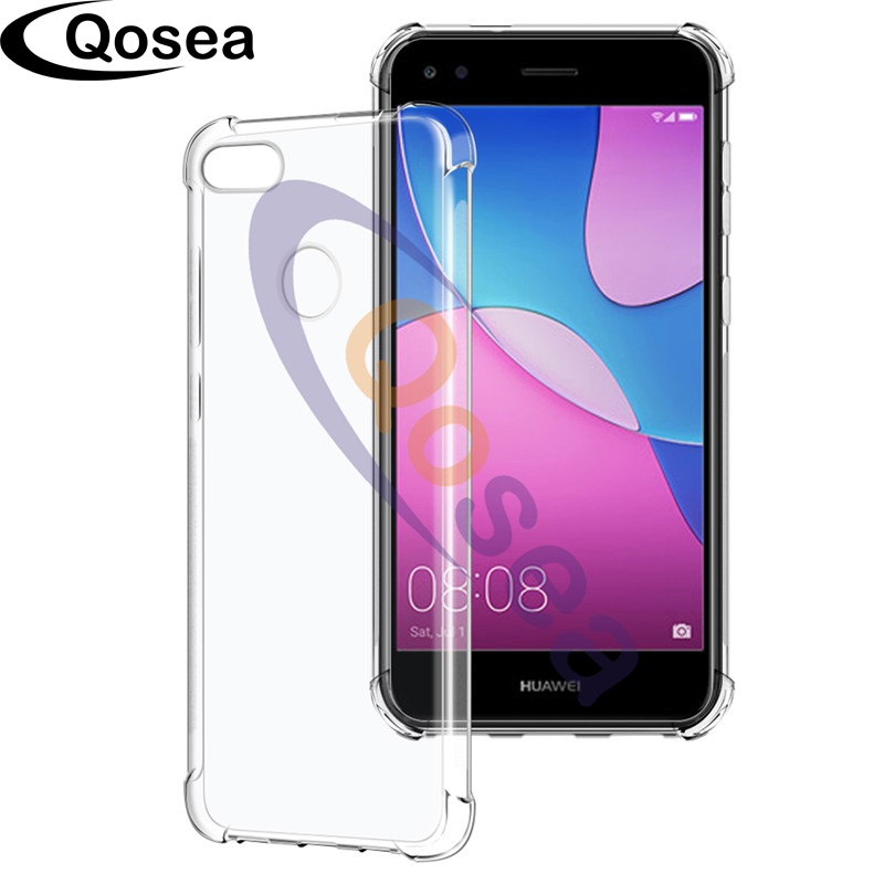 finest selection 2d911 814b5 For Huawei P9 Lite Mini Case Transparent Slim Soft Silicone TPU Skin ...