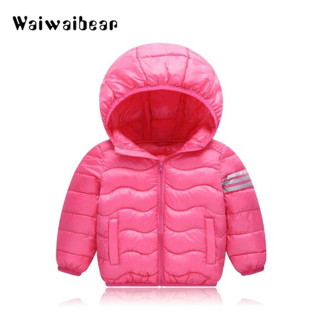 0147bd6883a9 Winter Baby Boys Girls Jackets Cotton Snowsuit Coats Baby Thicken ...