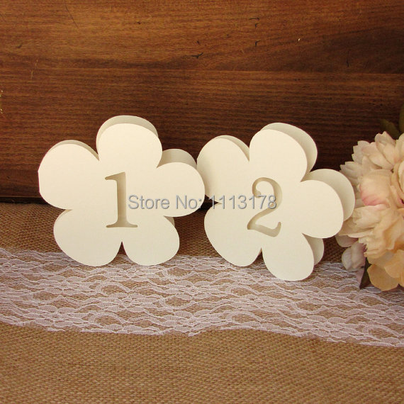 cheap Flower Table numbers seating place cards winter wedding ...