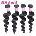 Free shipping malaysian hair weave virgin hair loose wave 4pc lot full cuticle aligned double weaving with sealing ms lula hair
