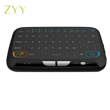 H18 Mini Wireless Keyboard 2.4 GHz Portable Keyboard With Touchpad Mouse for Windows Android/Google/Smart TV Linux Windows Mac