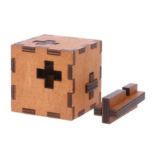 Image 3 - New Switzerland Cube Wooden Secret Puzzle Box Wood Toy Brain Teaser Toy For Kids brain test toys