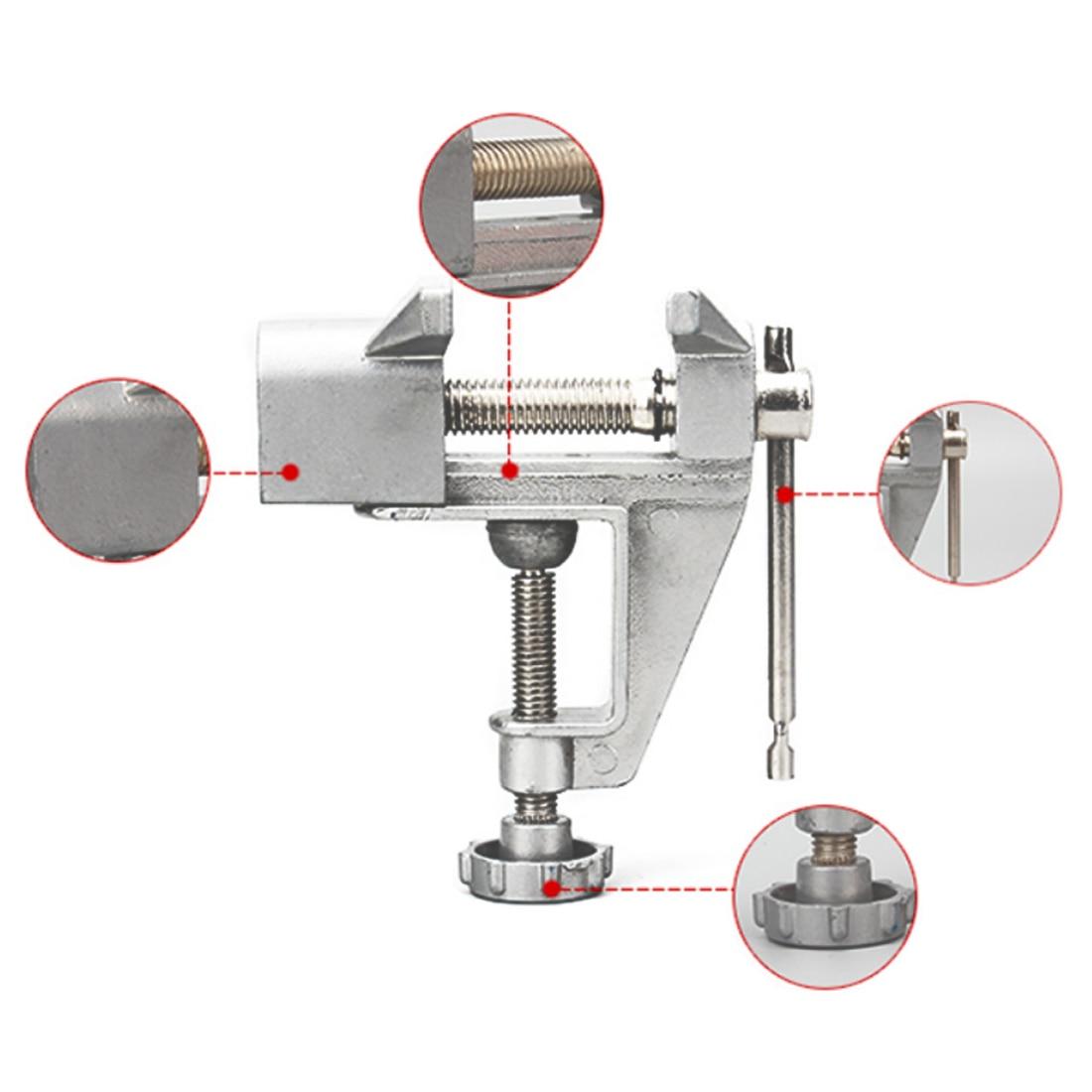 1pc 30mm Universal Mini Bench Vises Aluminium Alloy Table Screw Vise Bench Clamp