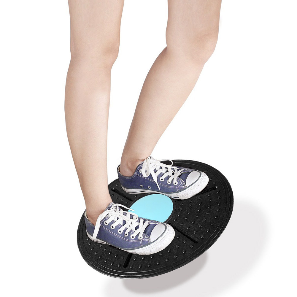 Fitness Balance Board 360 Degree Rotation Massage Disc Round Plates Board Gym Waist Twisting Exerciser 160kg Random Color