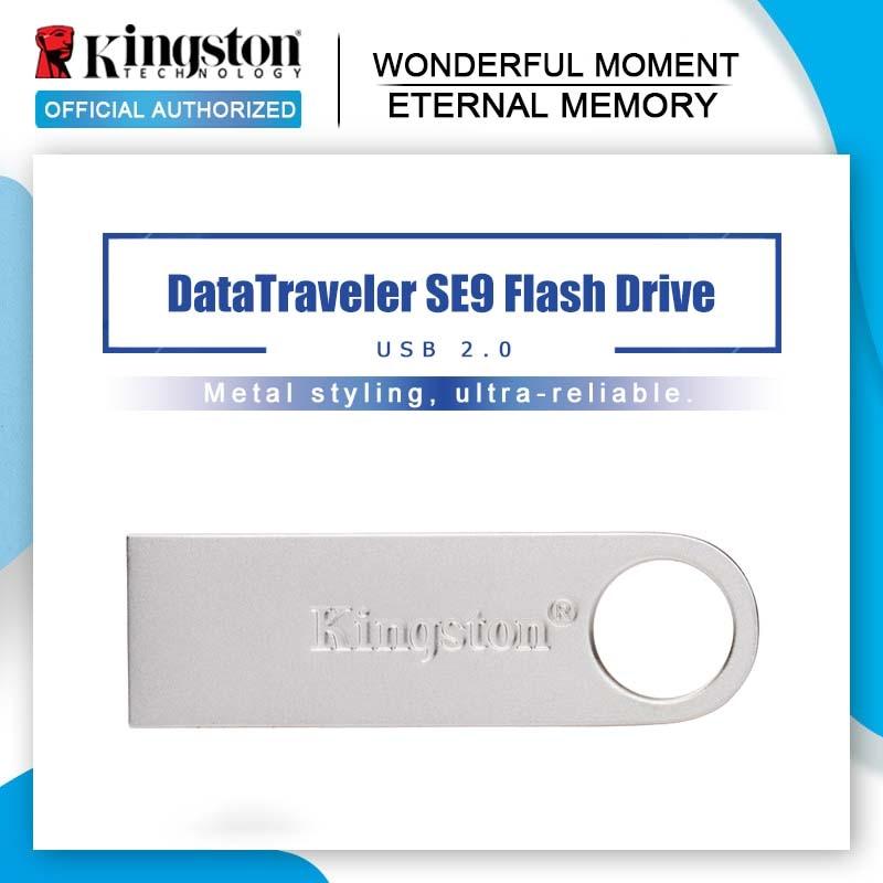 Kingston-clé USB 100%, 16 go, 8 go, 32 go, clé USB 2.0 originale, clé USB DTSE9H, clé USB