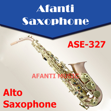 Afanti Music Eb tone / Phosphor Bronze Copper / Gold finish Alto Saxophone (ASE-327)